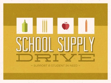 School Supply Drive Banner